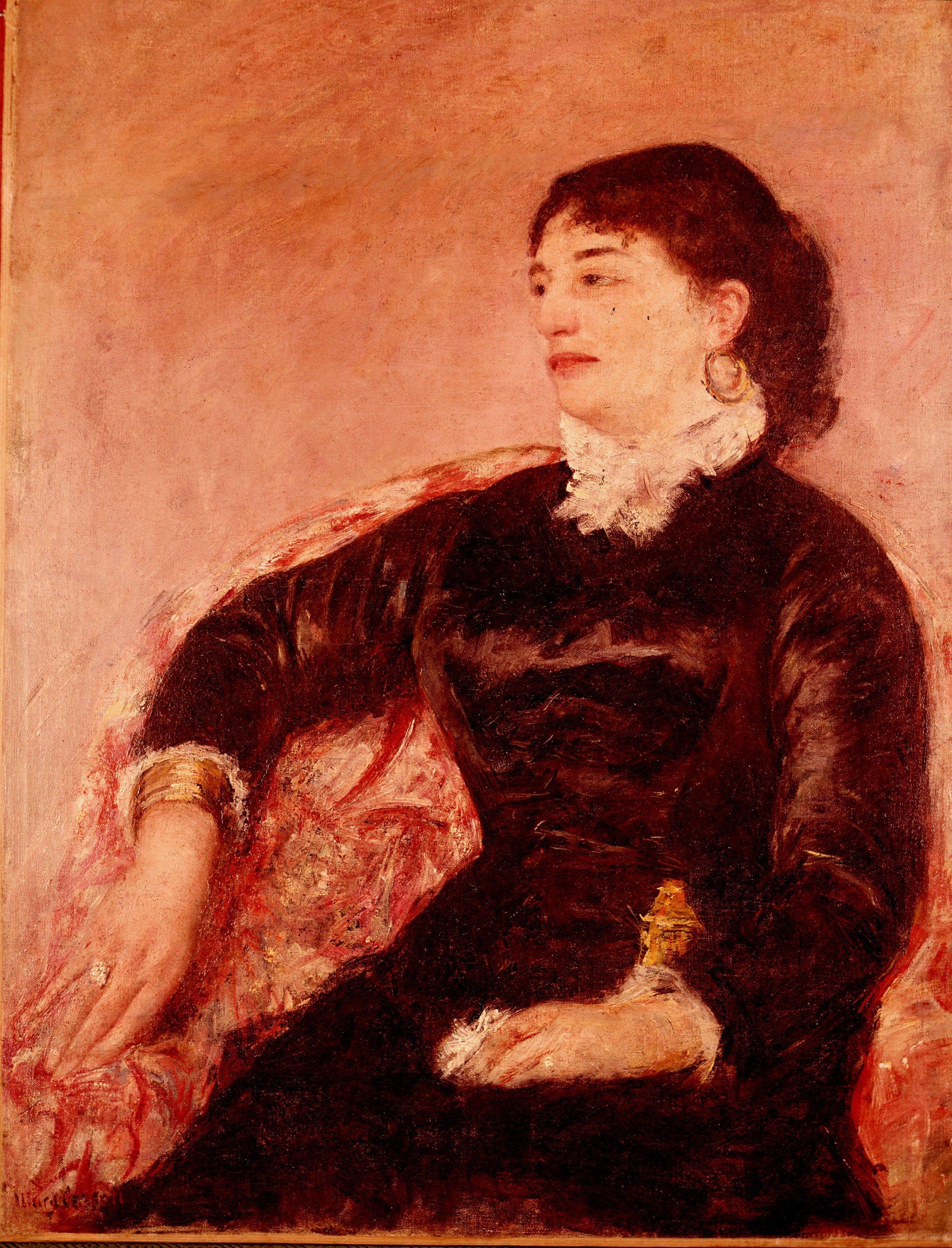Cassatt Mary,Portrait de femme Italienne,1876