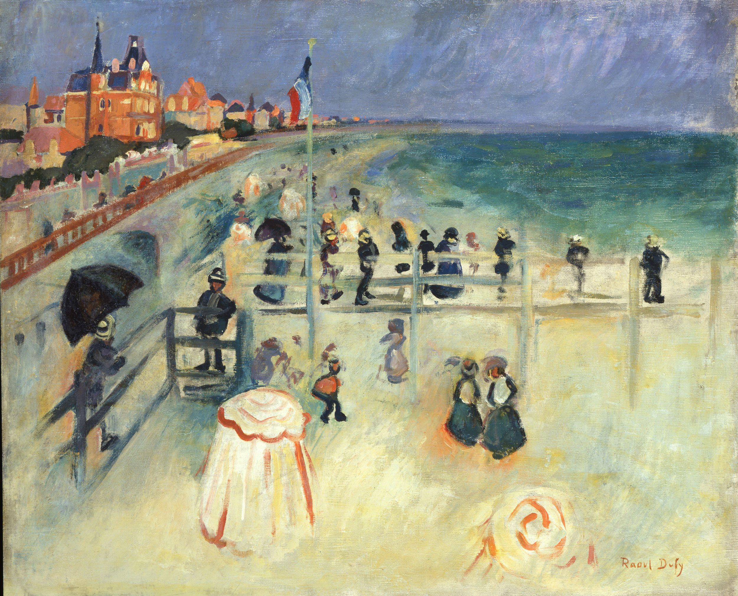 Dufy Raoul,La plage du Havre,1905