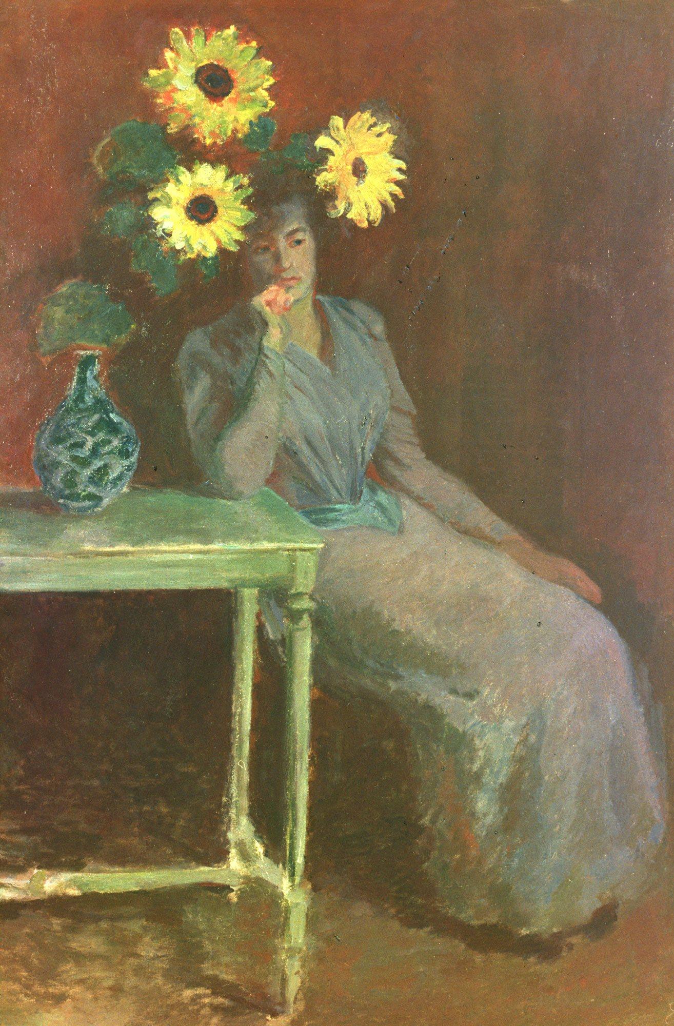 Monet Claude,Suzanne aux tournesols