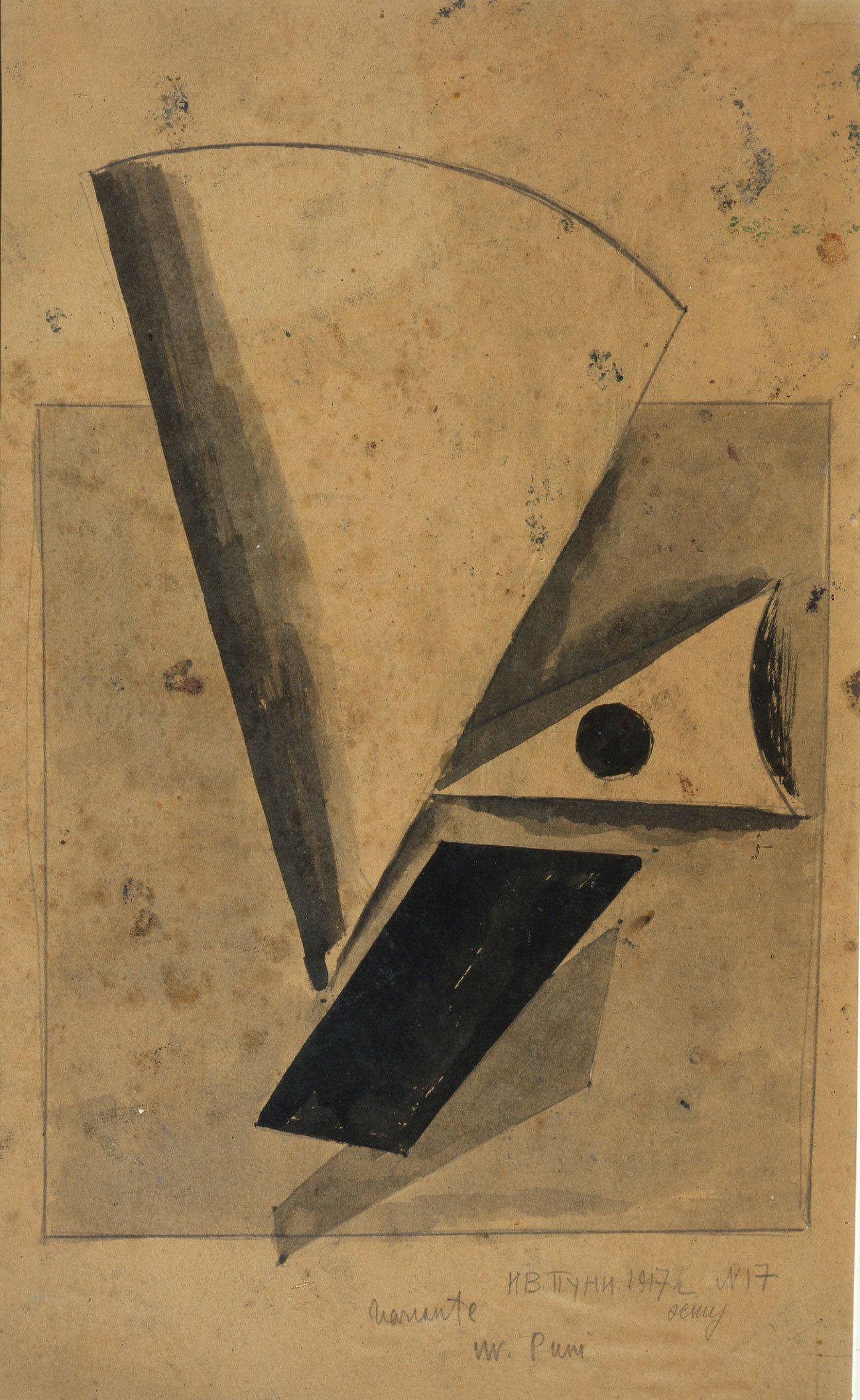 Puni Yvan,Composition pour sculpture,1917