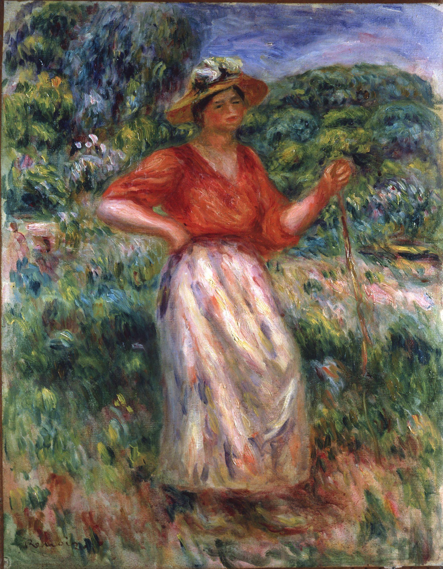 Renoir Pierre auguste,Femme marchand dans l'herbe,1913
