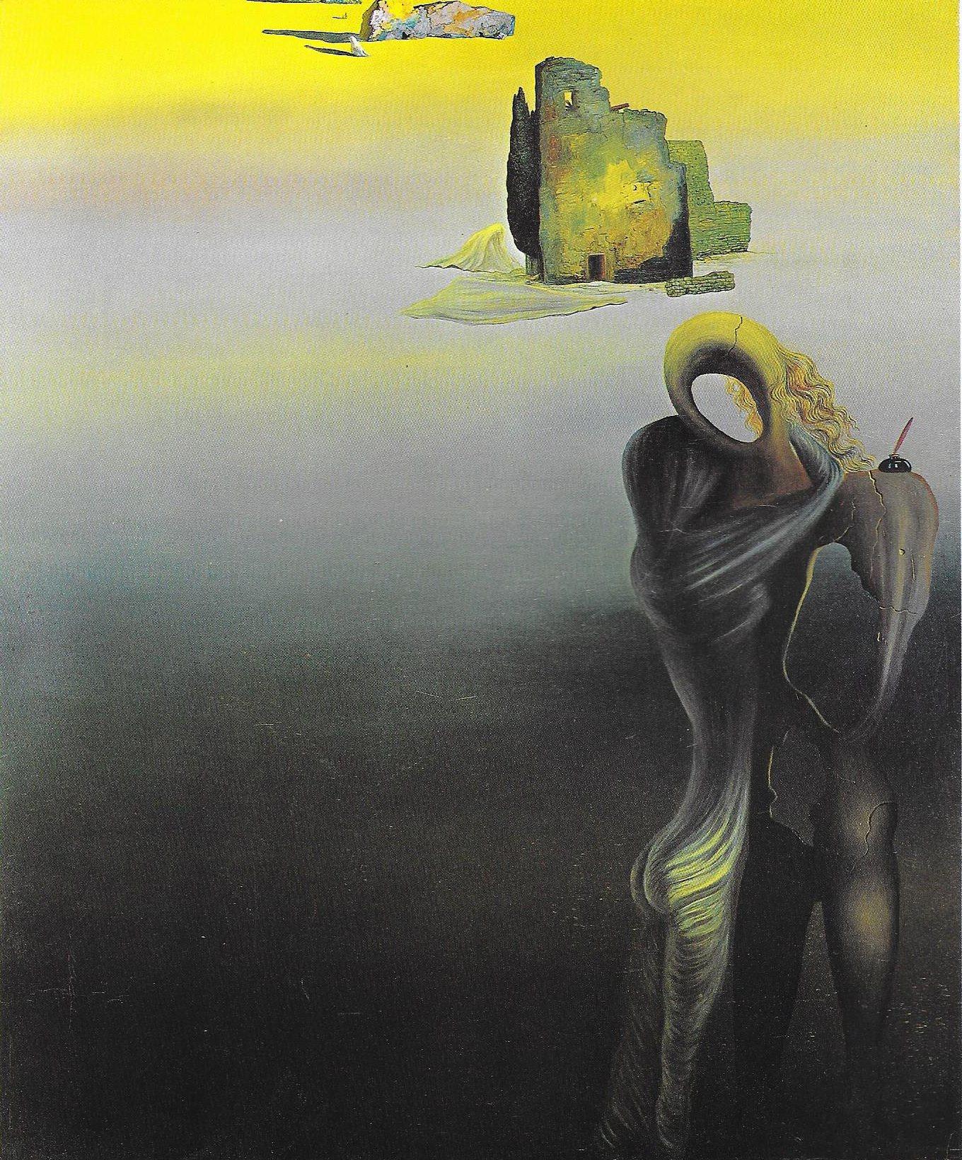 Salvador Dali, Gradiva retrouve les ruines antropomorphes,1932