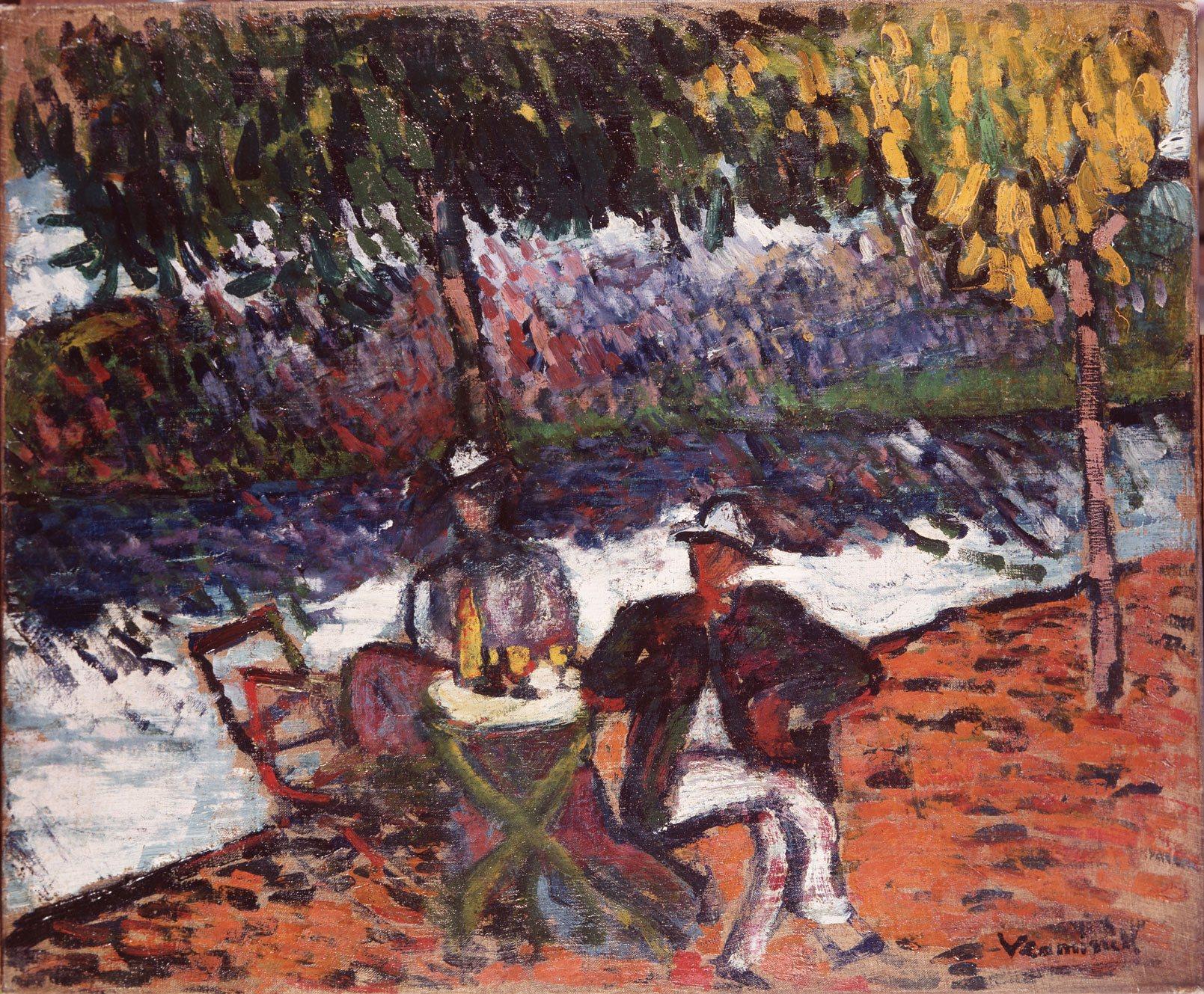 Vlaminck Maurice de,Au bord de la rivière,1905