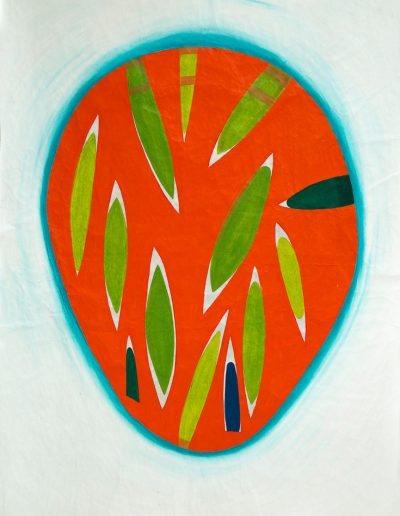 Arancione,2021,pigments purs et liant acrylique sur toile,225x170cm.